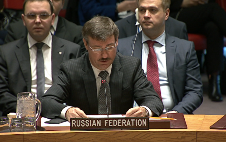 Пётр Ильичёв. Фото Постоянное представительство Российской Федерации при ООН.