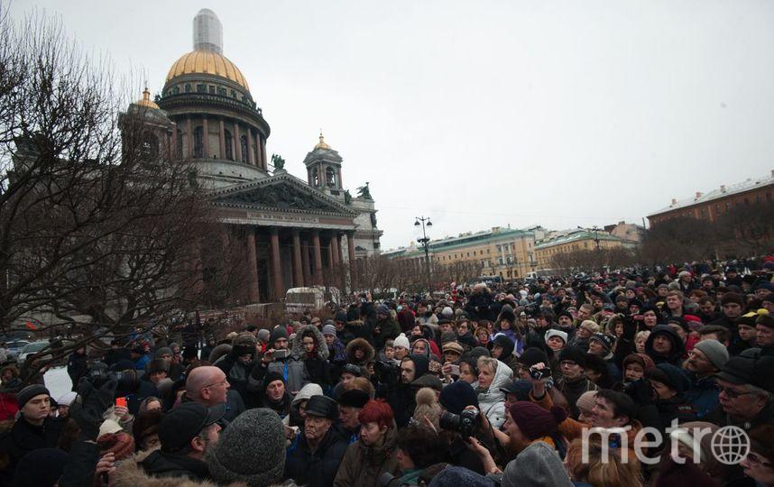 """Противники передачи Исаакия церкви подали заявку на референдум. Фото Святослав Акимов, """"Metro"""""""