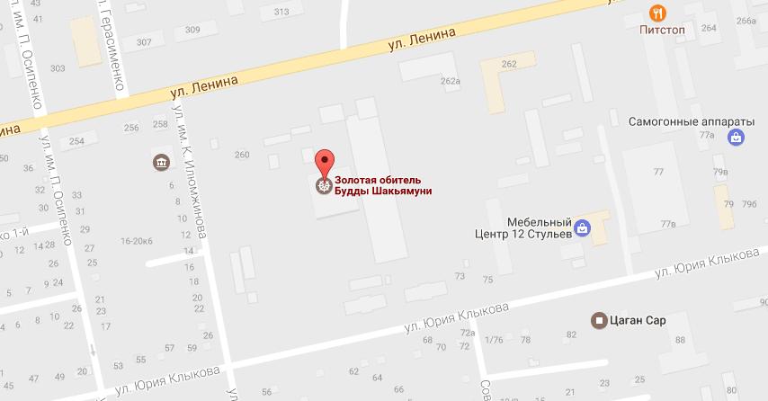 Специалисты СПбГУ не нашли пропаганды нацизма в обозначении буддийских храмов. Фото Скриншот/GoogleMaps