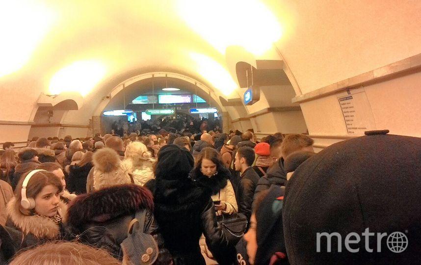 Движение насиней ветке метро Петербурга возобновилось после сбоя