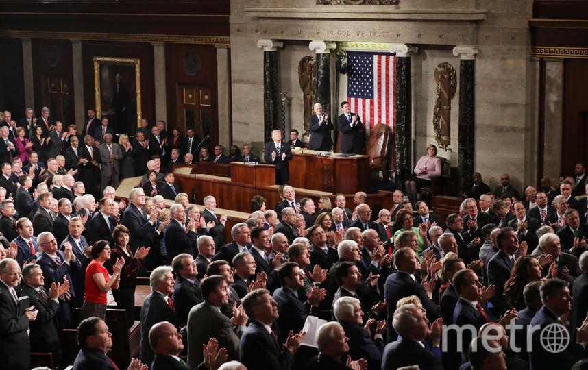 Выступление Дональда Трампа перед Конгрессом. Фото Getty