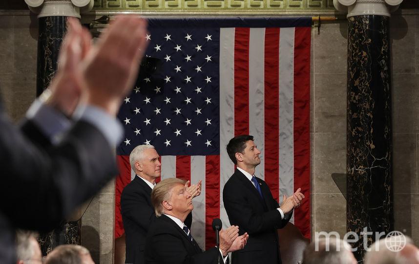 Выступление Дональда Трампа перед Конгрессом. Фото AFP