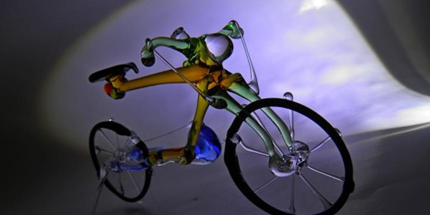 Стеклянные велосипеды талантливого жителя Украины поразили соцсети