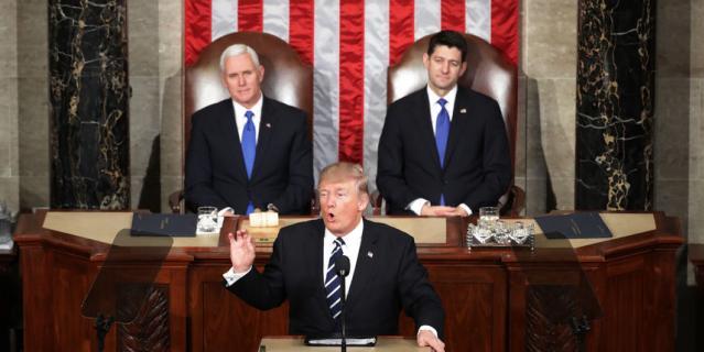 Самые важные тезисы 45-ого американского президента во время первого обращения к конгрессу