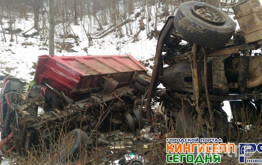 ВДТП около Усть-Луги умер шофёр грузового автомобиля