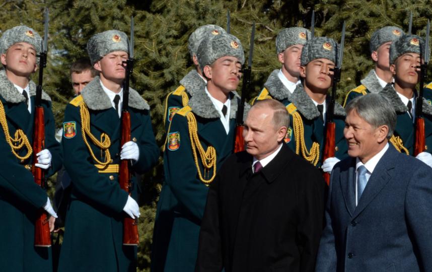Официальный визит президента России Владимира Путина в Кыргызстан. Фото Официальный сайт президента Кыргызстана.