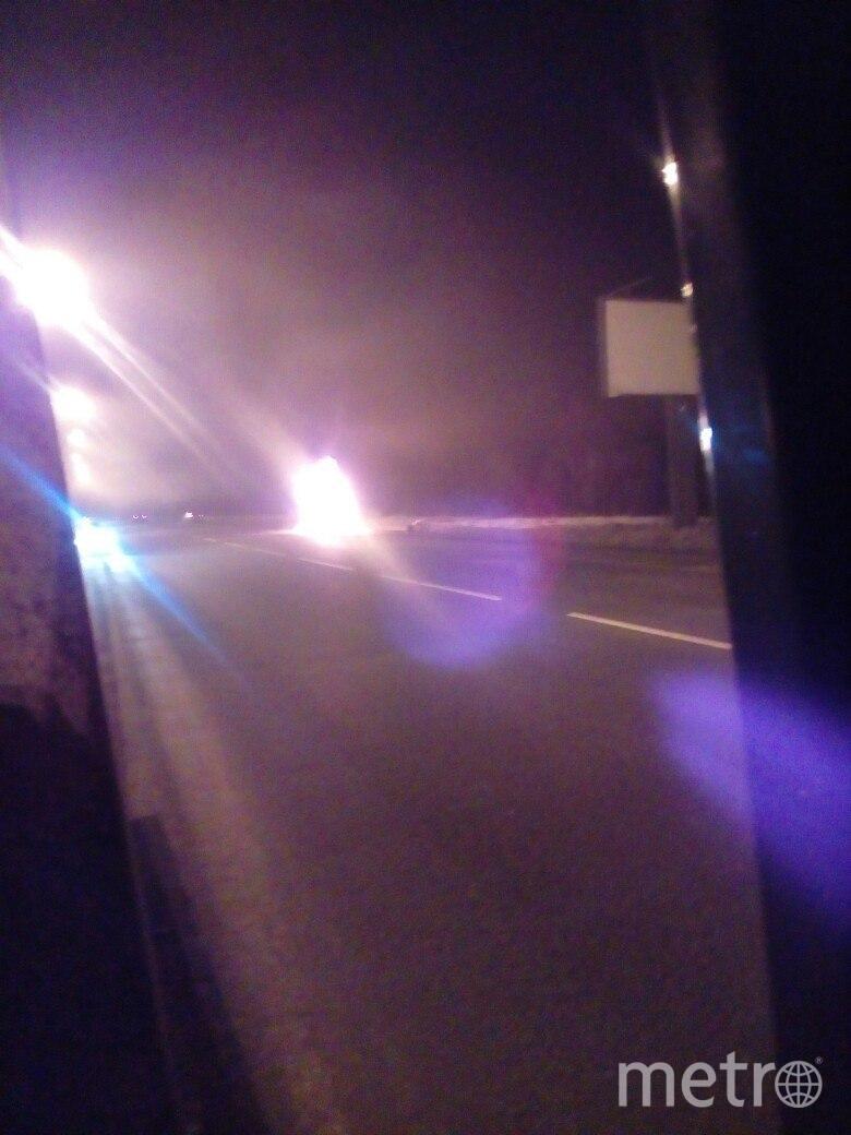 Пожар на трассе. Фото vk.com