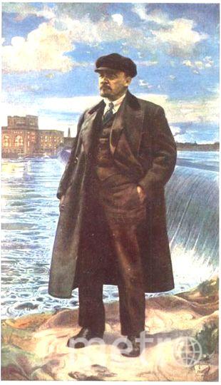 Портрет Ленина написан художником Исааком Бродским в 1927 году.