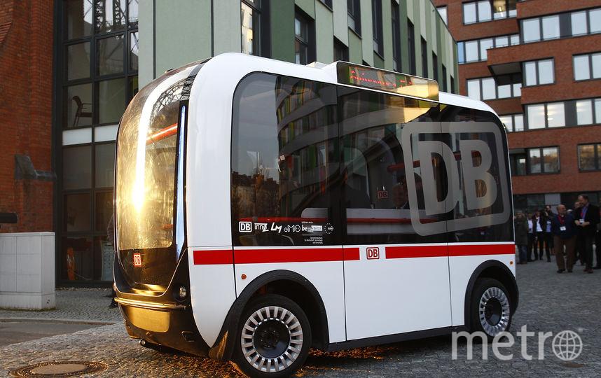 Беспилотный автобус в Германии. Фото Getty