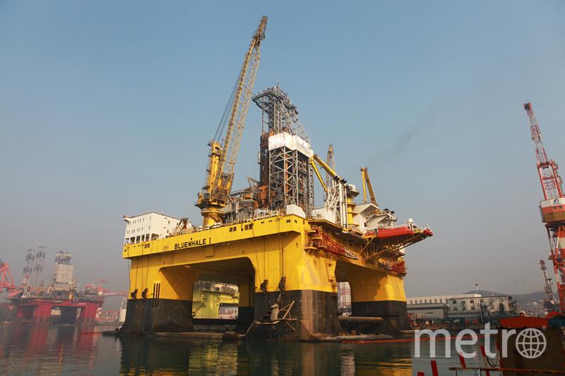"""Буровая платформа """"Синий кит 1"""". Фото Скриншот с официального сайта CIMC Raffles Offshore."""