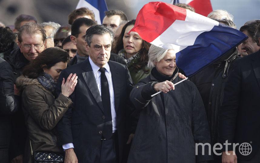 Франсуа Фийон на митинге. Фото AFP