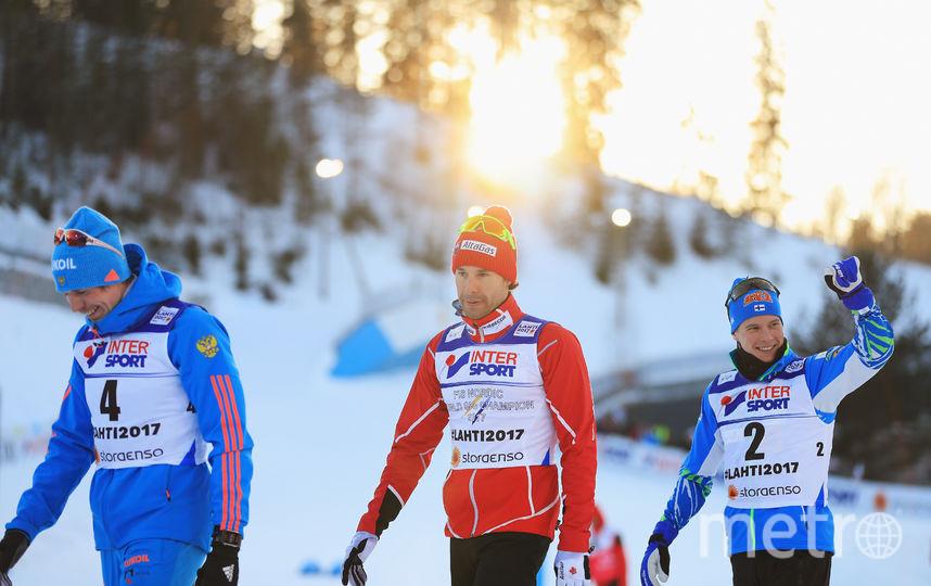 Лыжники Устюгов, Харви и Хейккинен. Фото Getty