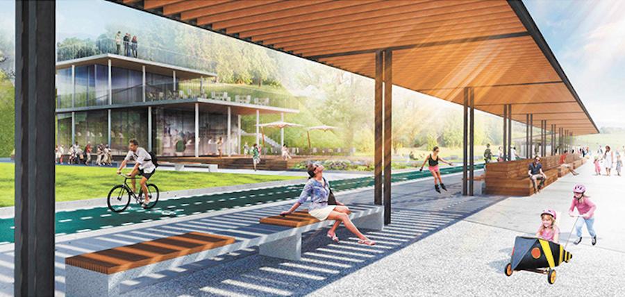 В «Левобережном» будет устроено всё для принятия солнечных ванн. Фото Изображение предоставлено архбюро Kleinewelt Architekten