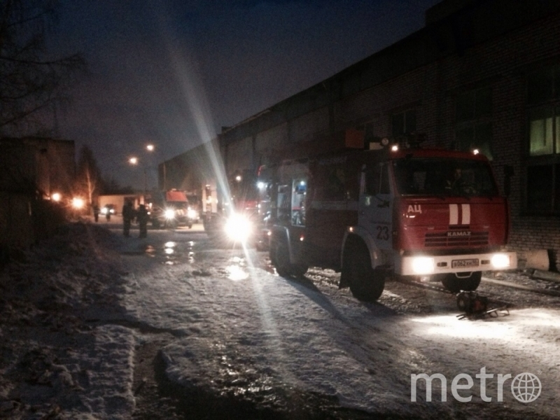 ВПриморском районе гасят интенсивный пожар наскладе— Петербург