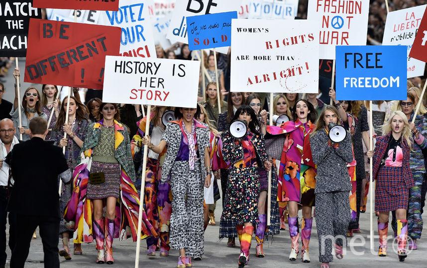 Топ-модели выступают за гендерное равенство. Фото Getty