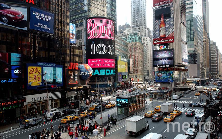 Таймс-сквер, Нью-Йорк. Фото Getty