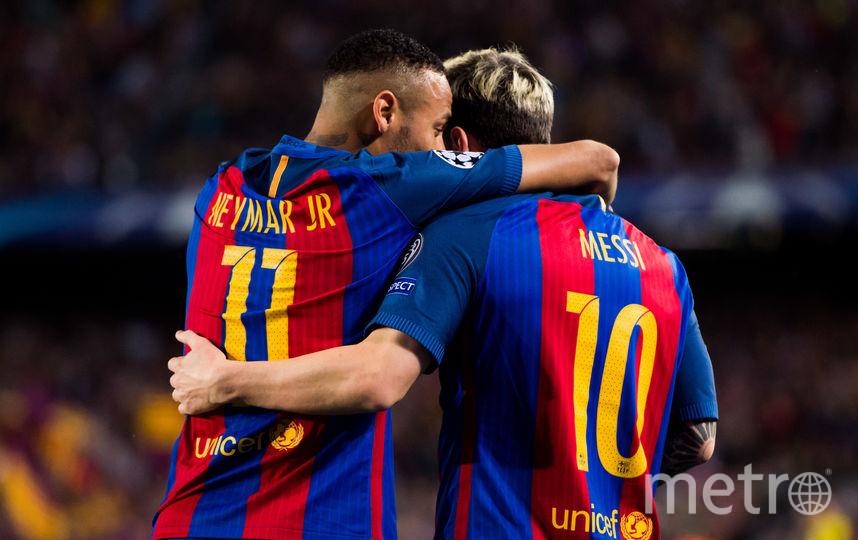 """Нападающие """"Барселоны"""" Лионель Месси и Неймар. Фото Getty"""