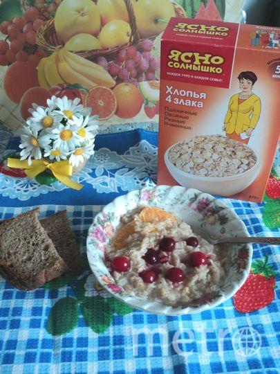 Постный завтрак с кашей Ясно солнышко. Фото Валентина Омск