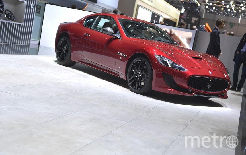 Автосалон в Женеве-2017. Maserati GranTurismo GT Sport Special Edition. Фото Getty