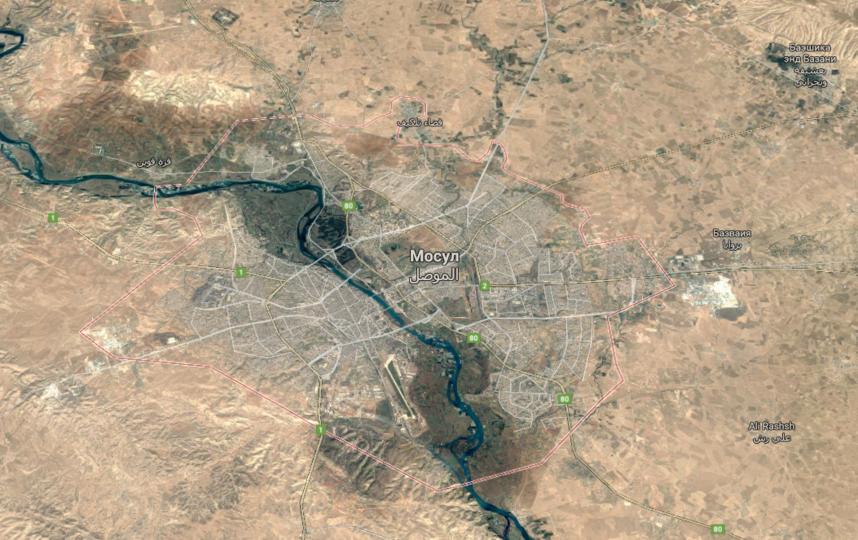 Мосул на карте. Фото www.google.ru/maps.