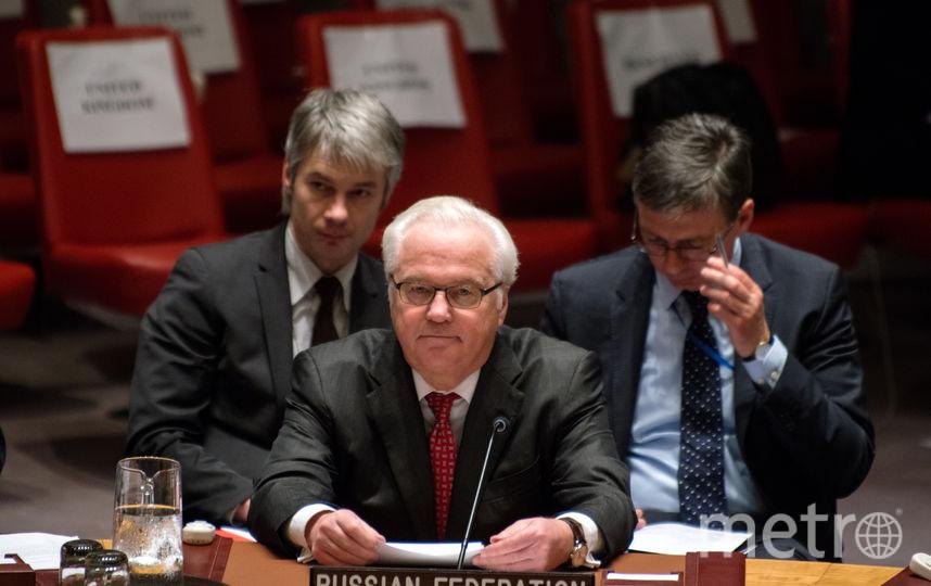 Виталий Чуркин на заседании ООН. Фото Getty