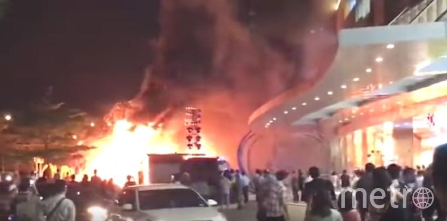 Сильный пожар произошел во время премьеры фильма. Фото Скриншот Youtube