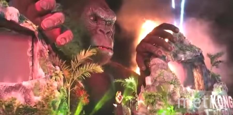 """Сильный пожар произошел во время премьеры фильма """"Конг: остров черепа"""". Фото Скриншот Youtube"""