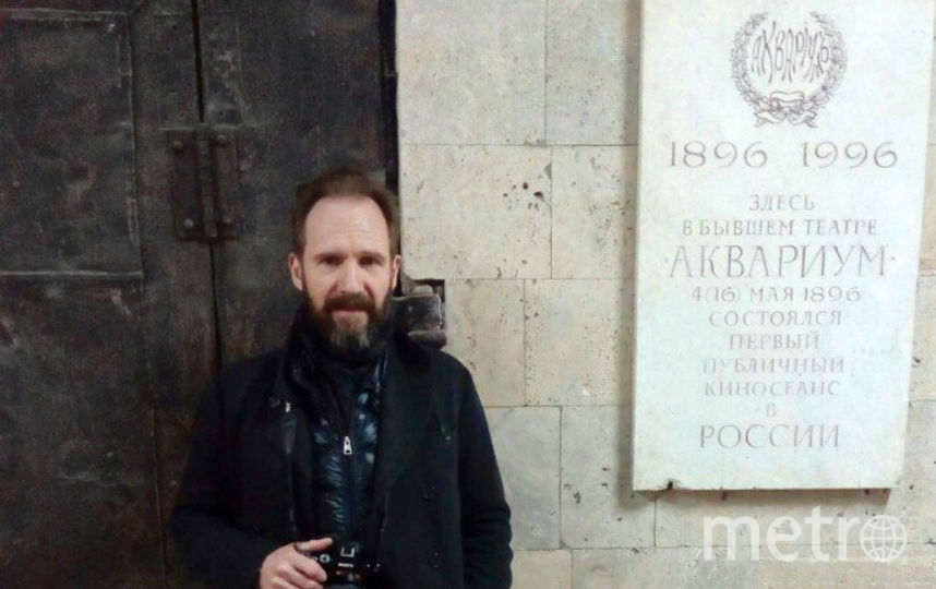 """Рэйф Файнс в Петербурге. Фото """"Ленфильм""""."""
