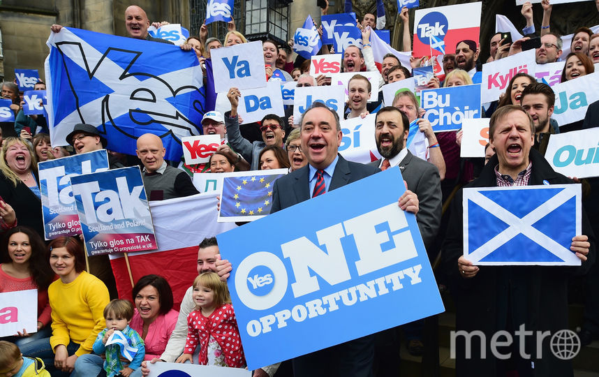 Сторонники отделения Шотландии от Великобритании. Фото Getty