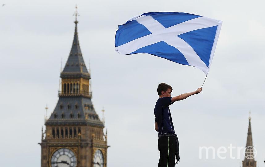 Флаг Шотландии в Лондоне. Фото Getty