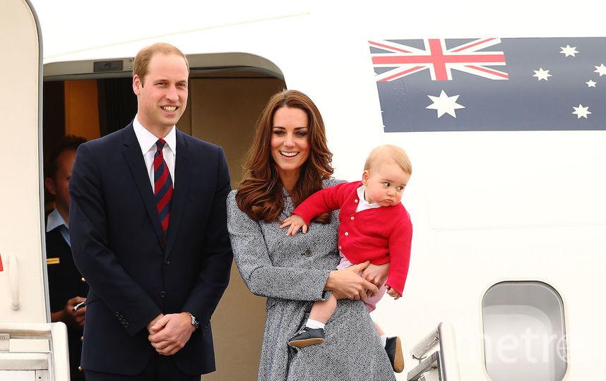 Уильян с женой Кэтрин и сыном Джорджем. Фото Getty