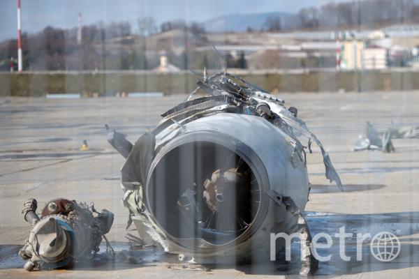Обломки Ту-154. Фото РИА Новости