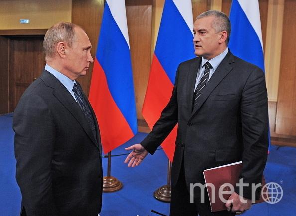 Путин и Аксенов. Фото Getty