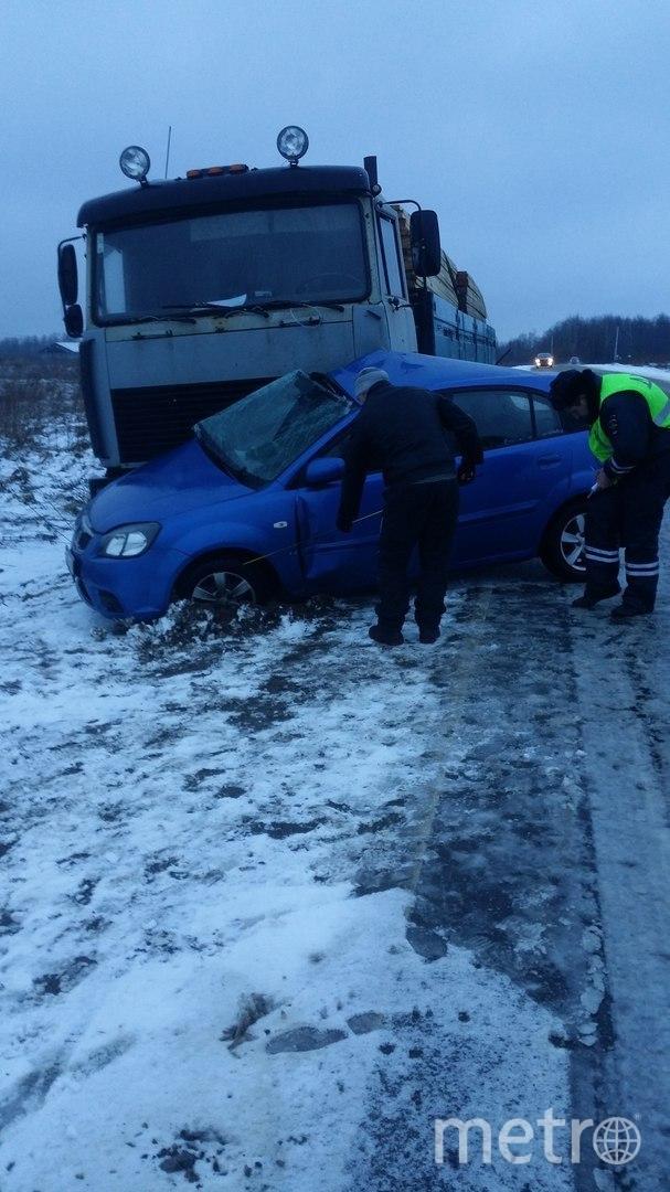 Серьезная авария произошла на Мурманском шоссе 15 марта утром. Фото ДТП/ЧП - все, vk.com
