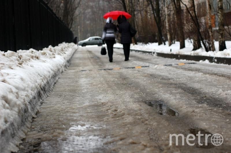 МЧС предупредило водителей оскользких трассах вПетербурге