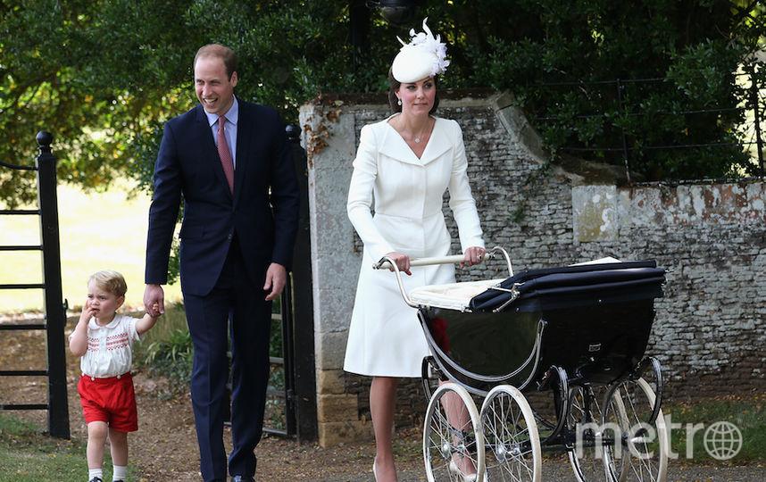 Принц Ульям с женой Кэтрин и детьми
