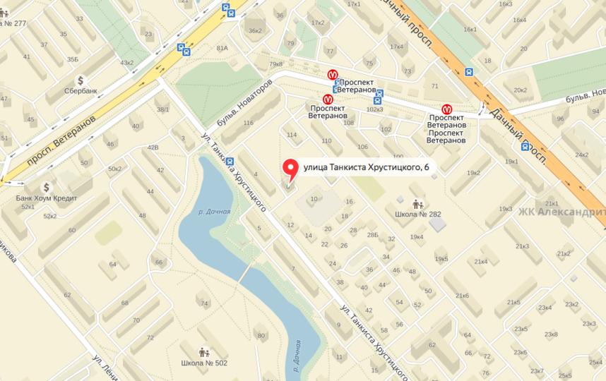 """Коляску оставили недалеко от метро """"Проспект Ветеранов"""". Фото Яндекс.Карты."""