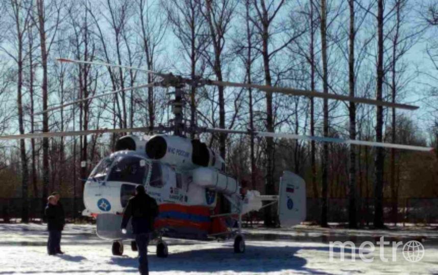 Пострадавших госпитализировали на вертолете. Фото 47.mchs.gov.ru