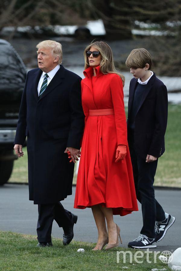 Мелания Трамп в красном покорила пользователей Сети. Фото Getty