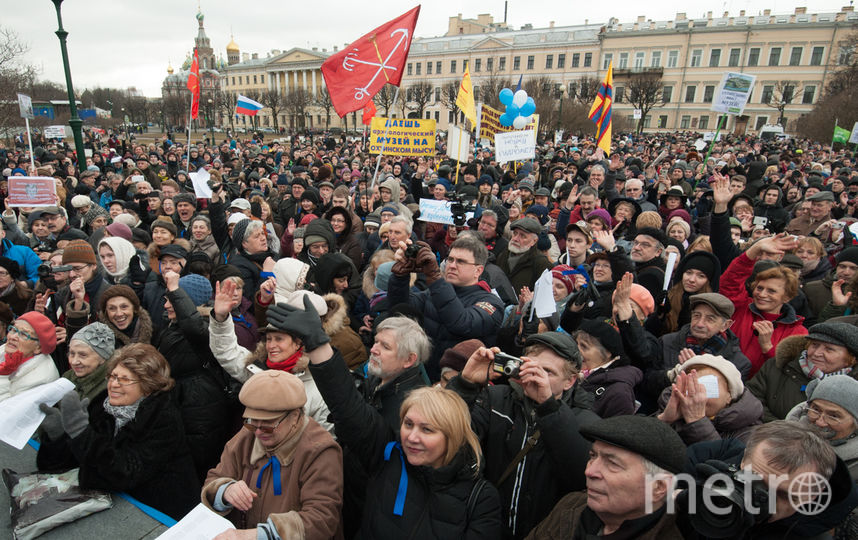 """Порядка 10 тысяч петербуржцев пришли на марш в защиту города. Фото Святослав Акимов, """"Metro"""""""