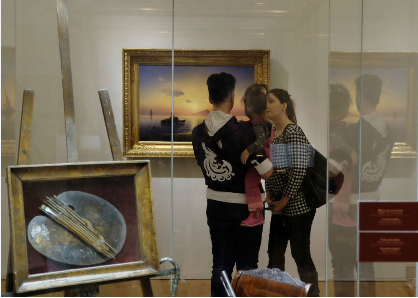 Выставка Айвазовского стала настощим большим событием для культурного Петербурга. Фото Алена Бобрович.