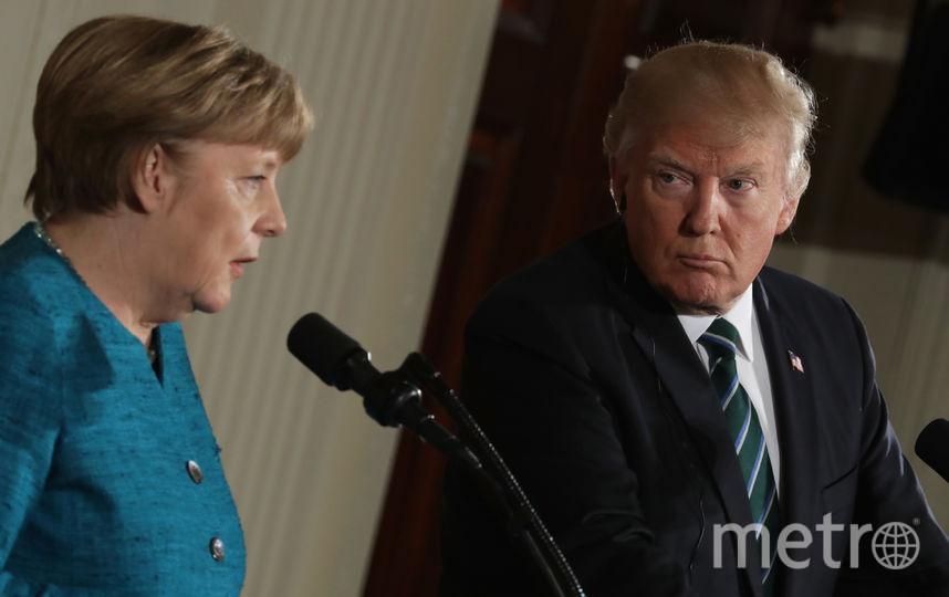 Встреча Трампа и Меркель. Фото Getty