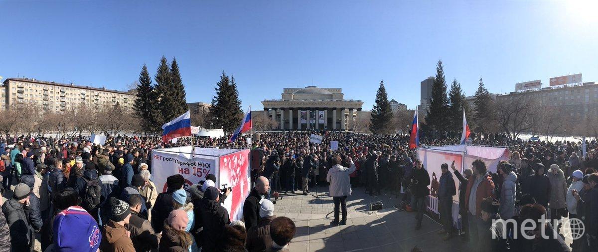 Митинг против роста тарифов ЖКХ в Новосибирске. Фото Эжени аль-Фельдманийя.