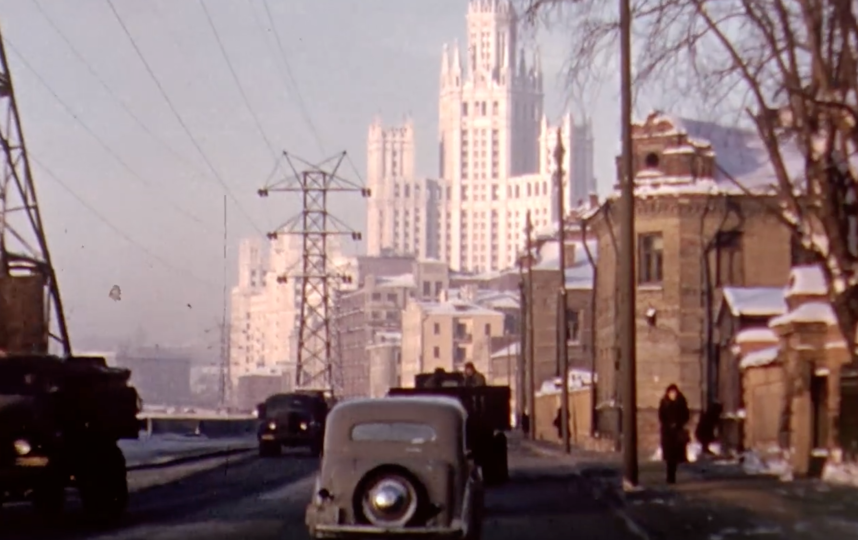 Москва 1950-х. Фото Current Time., Скриншот Youtube