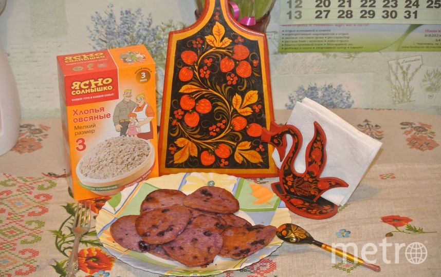 """Овсяно-черничные оладьи с медом. Соколова Мария. Фото Каши """"Ясно солнышко"""" очень любим.Моя любимая гречневая,муж любит рисовую,а дети-овсяную!"""