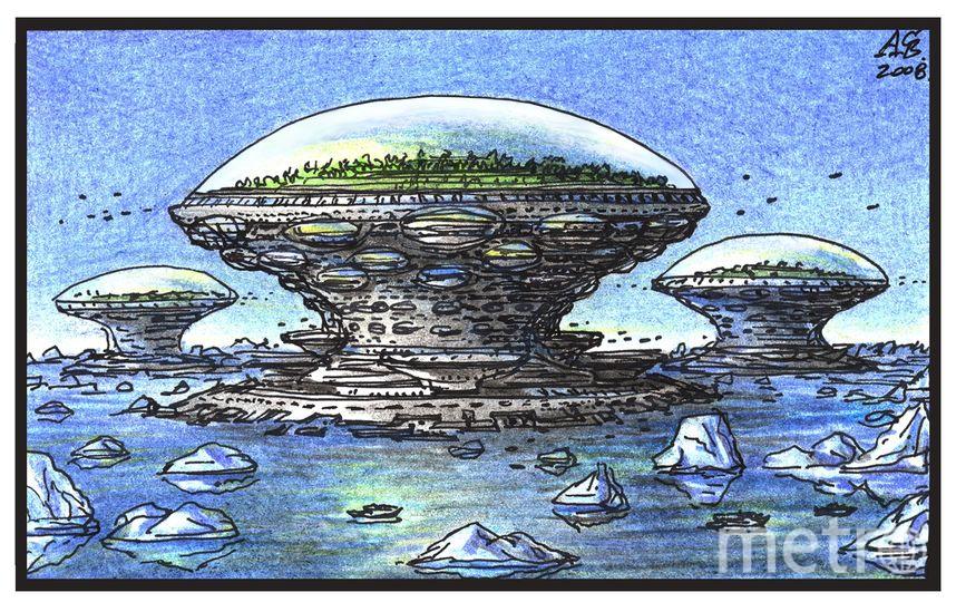 """Поселения под климатическими умными оболочками в арктических широтах. Фото Артур Скижали-Вейс, """"Metro"""""""