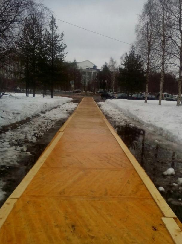 Паркетный тротуар в Архангельске. Фото Предоставлено Екатериной Жуковой.