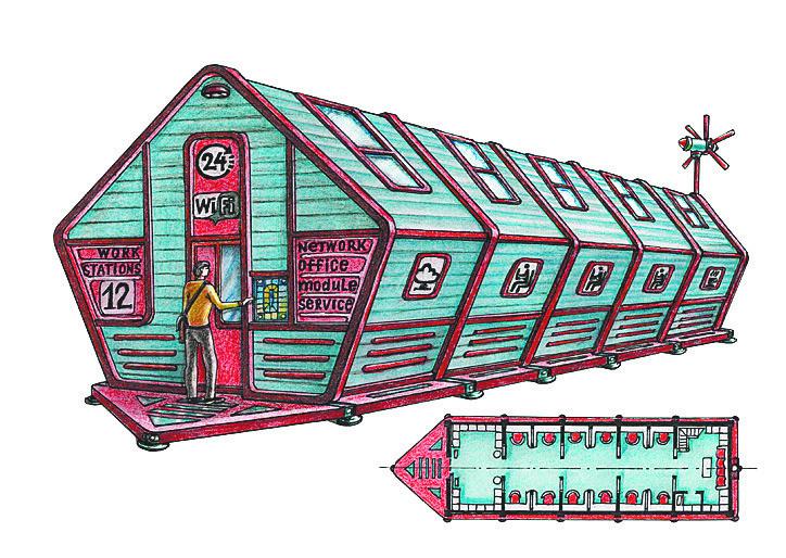 """Автономный сблокированный модульный офис серии """"Вояджер"""". Фото Артур Скижали-Вейс, """"Metro"""""""