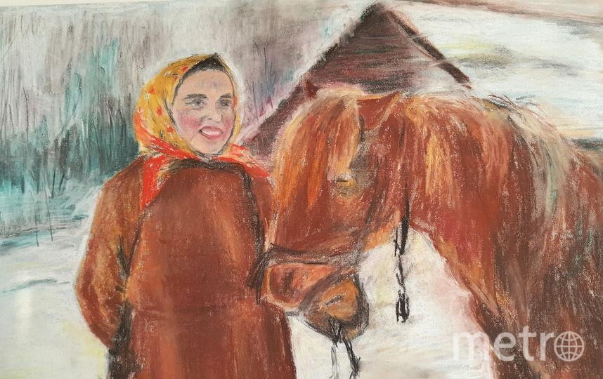 """Серов """"Баба с лошадью"""", техника копии - пастель. Фото Елена Трамп"""