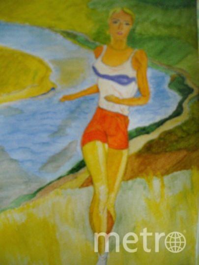 """Отправляю свою акварельную копию картины А .А. Дейнеки """"Бегунья"""" 1936г. Фото Борис"""